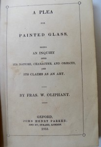 Photo of A Plea For Painted Glass, Being An Inquiry Into Its Nature, Character, And Objects, And Its Claims As An Art. by OLIPHANT, Fra[nci]s. W.