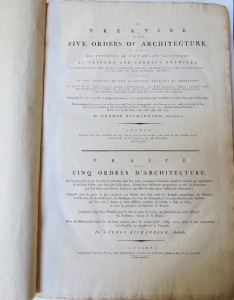 Photo of A Treatise On The Five Orders Of Architecture, In Which The Principles Of That Art Are Illustrated By Elegant And Correct Examples, ... Containing Twenty-Two Plates Engraved In Acquatinta, producing the Spirit and Effect of finished Drawings in Indian Ink; With complete Explanations in English and French, accompanied with Observations made on several of the Antiquities of Rome, and various Parts of Italy, at Pola in Istria, and the southern Provinces of France, in the Years 1760, 1761, 1762, and 1763. by RICHARDSON, George.