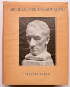 Photo of Architecture & Personalities. by BAKER, Herbert.
