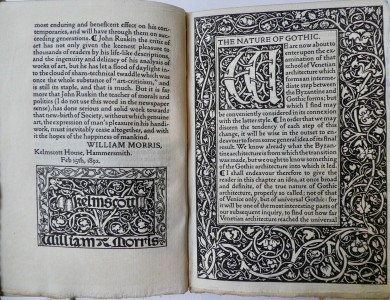Photo of On The Nature Of Gothic. A Chapter of the Stones of Venice. With a Preface by William Morris. by RUSKIN, John.