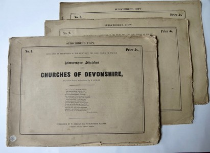 Photo of Picturesque Sketches Of The Churches Of Devonshire Drawn From Nature, And On Stone by W. Spreat. by SPREAT, W[illiam].
