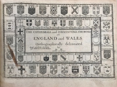 Photo of The Cathedrall and Conventvall Churches of England and Wales Orthographically delineated by D. K. MDCLVI. by NICHOLAS HAWKSMOOR