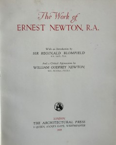 Photo of The Work of Ernest Newton, R.A. by NEWTON, William, Godfrey.